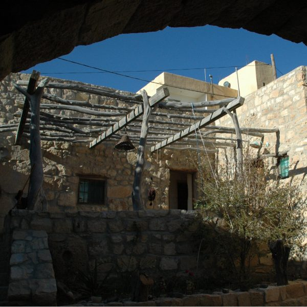 The courtyard in Beit al Taybeh